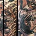 Realistic Tiger tattoo by Darren Wright Tattoos