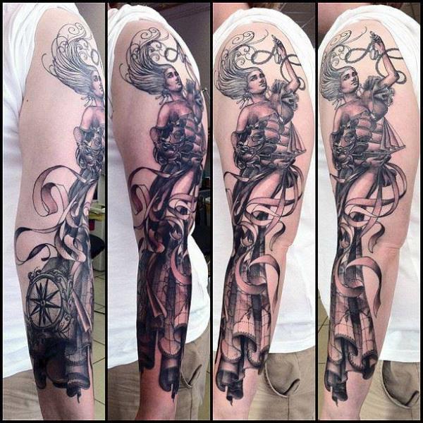 Arm Fantasy Tattoo by Immortal Ink