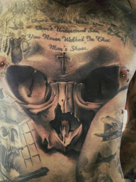 Chest Skull Tattoo by Immortal Ink