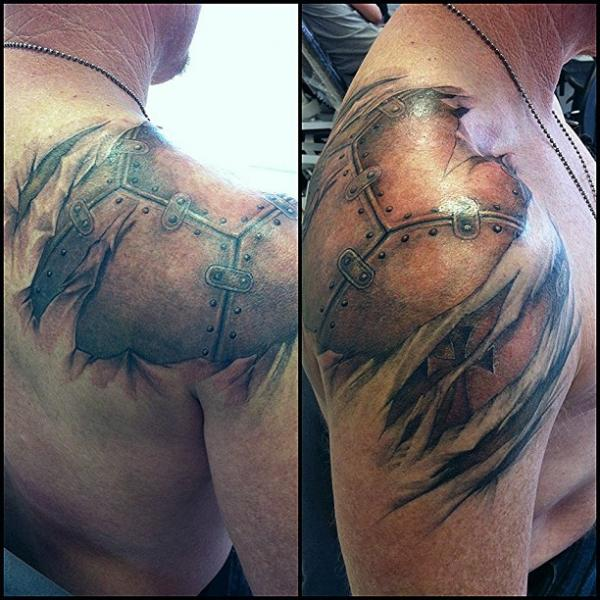 Shoulder Biomechanical Tattoo by Immortal Ink
