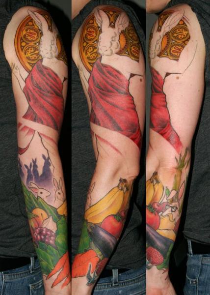 Arm Fantasie Hase Tattoo von Archive Tattoo