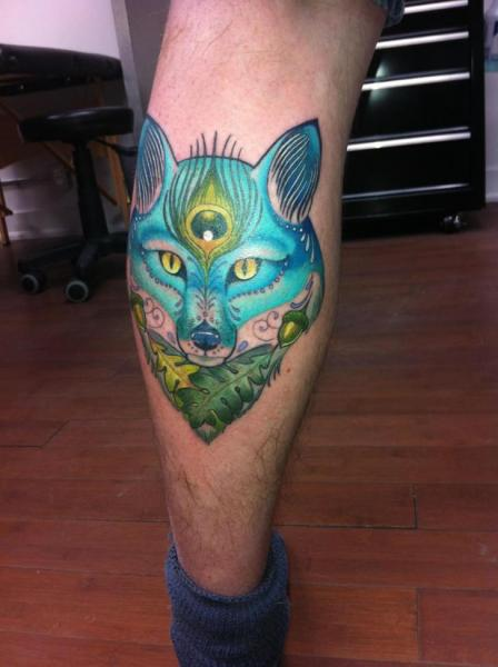 Fantasy Calf Wolf Tattoo by Archive Tattoo
