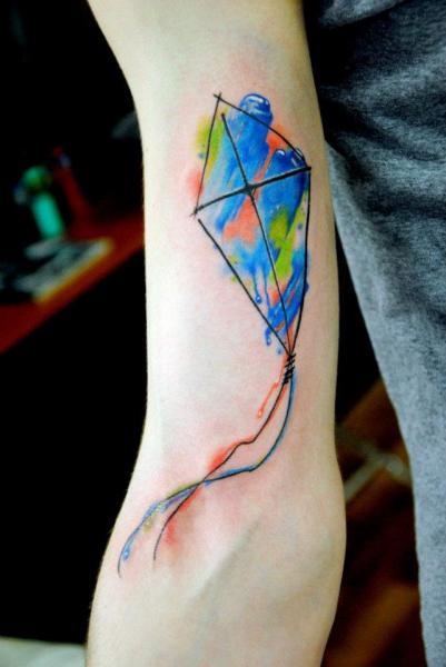 Arm Kite Tattoo by Mai Tattoo