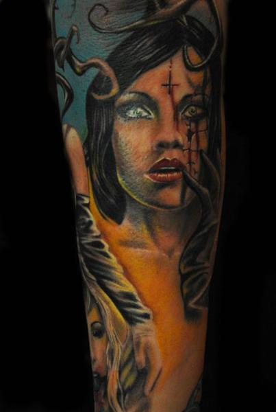 Arm Fantasy Women Tattoo by Mai Tattoo