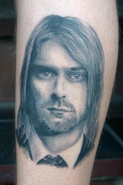 Arm Realistic Kurt Cobain Tattoo by Corpus Del Ars