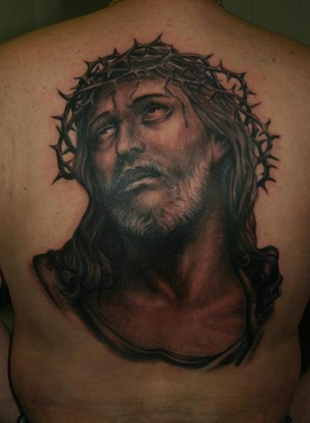 Back Jesus Religious Tattoo by Corpus Del Ars