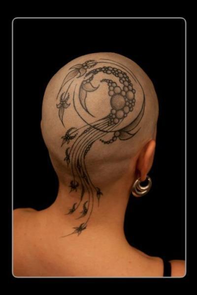 Tatuaje Fantasy Cabeza por Corpus Del Ars