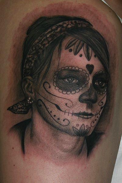 Mexikanischer Totenkopf Tattoo von Corpus Del Ars