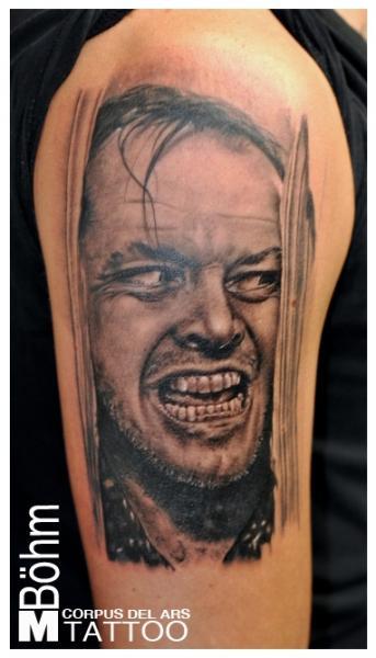 Tatuaje Brazo Retrato por Corpus Del Ars