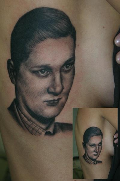 Portrait Realistic Side Tattoo by Corpus Del Ars