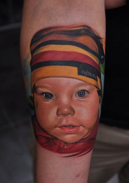 Tatuaje Brazo Realista Niños por Negative Karma