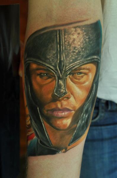 Tatuaje Realista Guerrero por Negative Karma