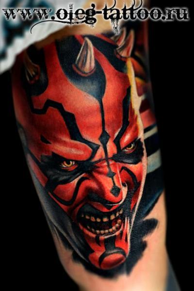 Arm Fantasy Monster Tattoo by Oleg Tattoo