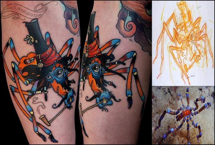 Arm Fantasy Character Tattoo by Oleg Turyanskiy