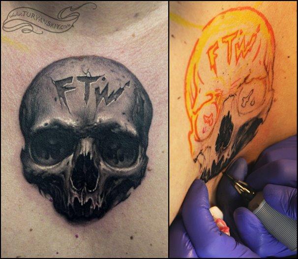 Totenkopf Tattoo von Oleg Turyanskiy