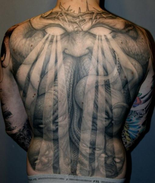 Fantasy Back Monster Tattoo by Dark Images Tattoo