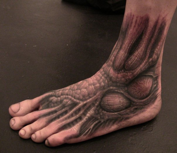 Fantasy Foot Tattoo by Dark Images Tattoo