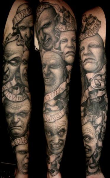 Fantasy Sleeve Tattoo by Dark Images Tattoo