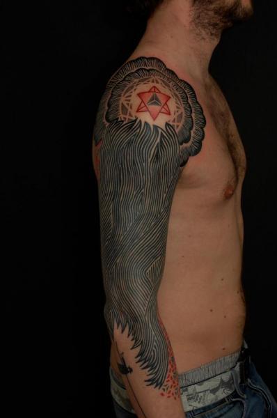 Arm Dotwork Tattoo by Gerhard Wiesbeck
