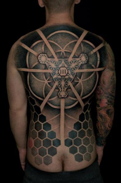 Back Dotwork Tattoo by Gerhard Wiesbeck