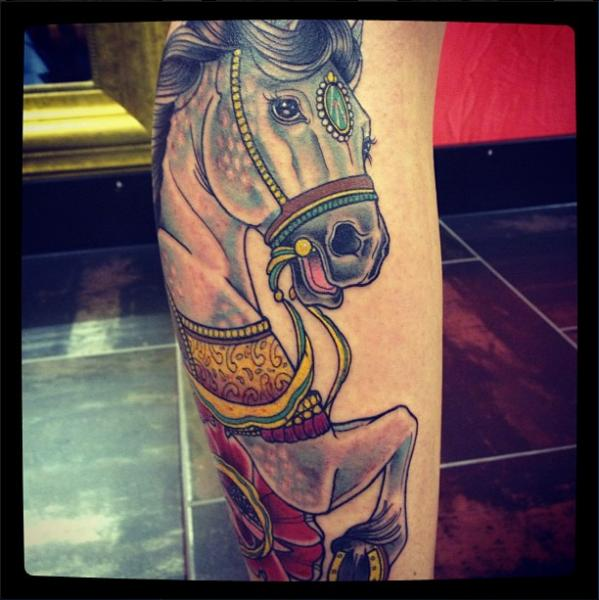 Leg Horse Tattoo by Time Travelling Tattoo