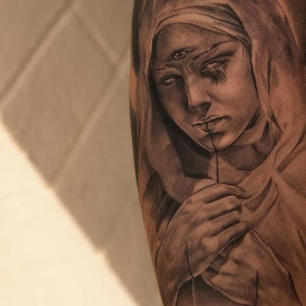 Fantasie Religiös Tattoo von Wicked Tattoo