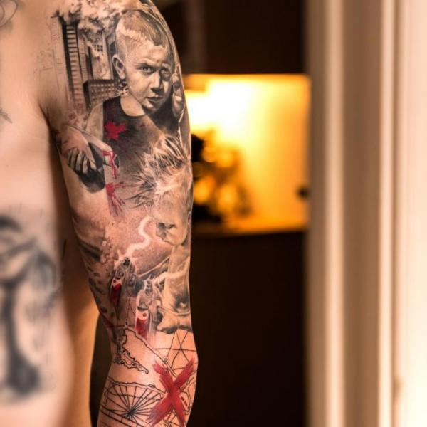 Shoulder Realistic Children Tattoo by Wicked Tattoo