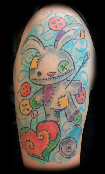 Arm Fantasy Rabbit Tattoo by Die Stichelei