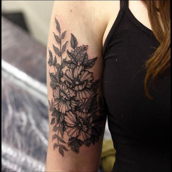 Arm Flower Tattoo by Nemesis Tattoo
