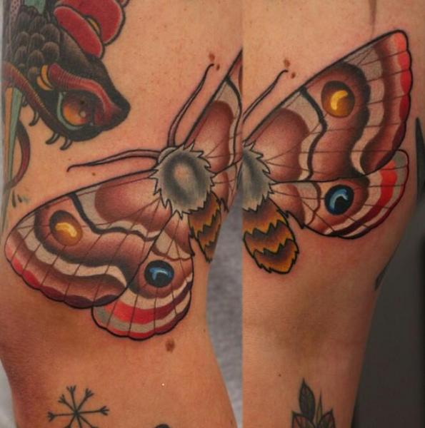 Arm Moth Tattoo by Nemesis Tattoo