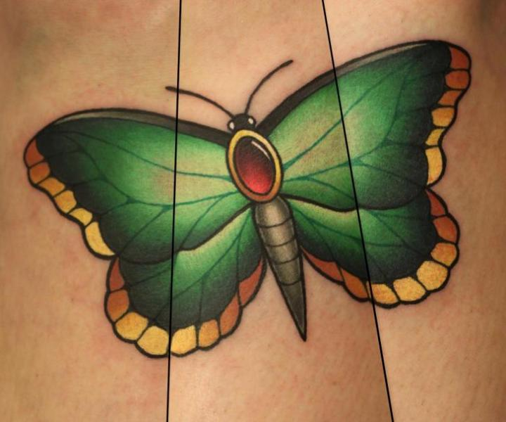 Butterfly Tattoo by Nemesis Tattoo