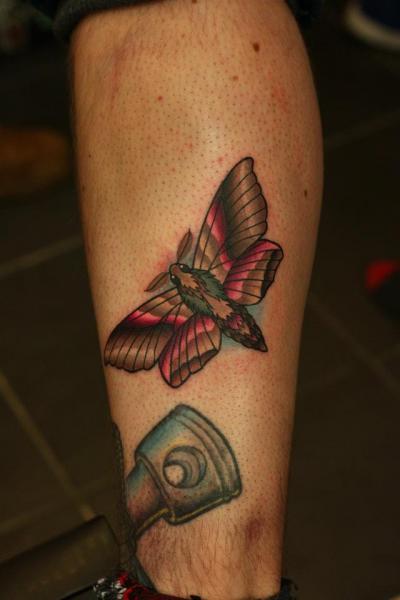 Calf Moth Tattoo by Nemesis Tattoo