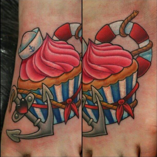 Fantasy Anchor Cake Tattoo by Nemesis Tattoo