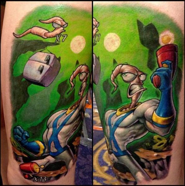 Fantasy Character Tattoo by Nemesis Tattoo