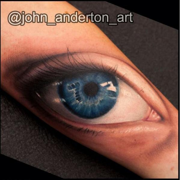Realistic Eye Tattoo by Nemesis Tattoo