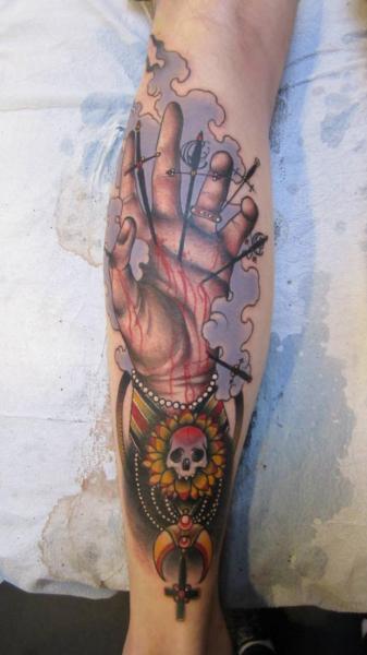 Arm Hand Tattoo von Scapegoat Tattoo