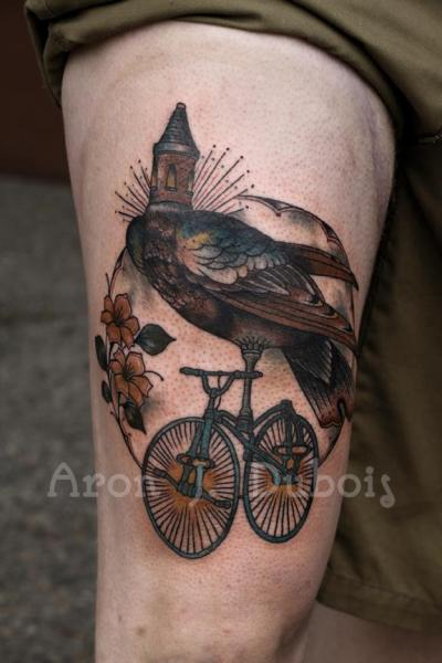 Fantasy Thigh Tattoo by Scapegoat Tattoo