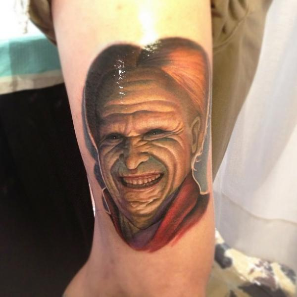 Arm Fantasy Dracula Tattoo by Steve Wimmer