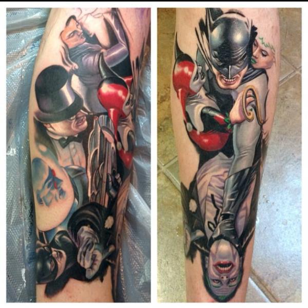Tatuaje Fantasy Batman por Steve Wimmer