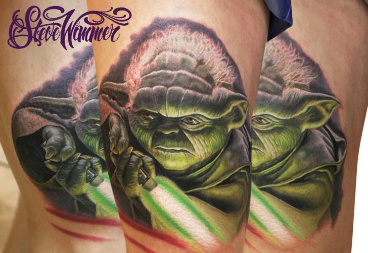 Fantasie Yoda Tattoo von Steve Wimmer