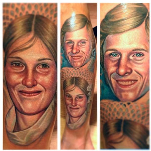 Tatuaje Realista Mujer Hombres por Steve Wimmer
