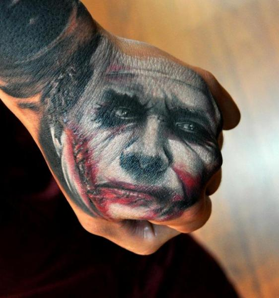 Fantasy Hand Joker Tattoo by Pure Vision Tattoo