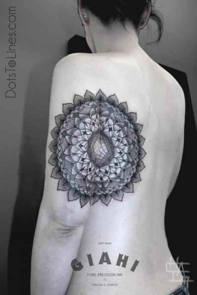Arm Back Dotwork Tattoo by Dots To Lines