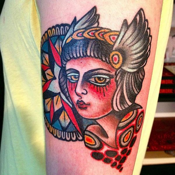 Arm Old School Tattoo by Seven Devils