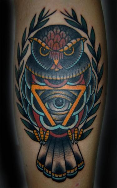 Arm Owl Tattoo by Seven Devils