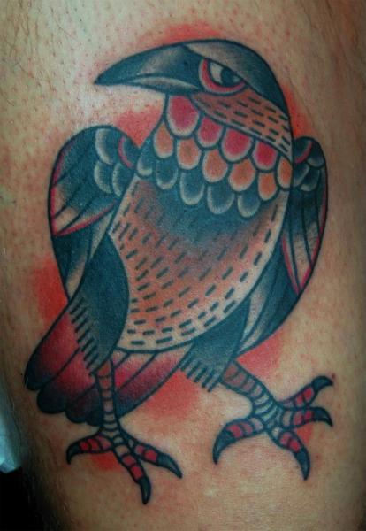 Old School Vogel Tattoo von Seven Devils