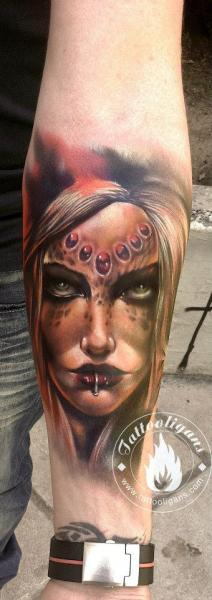 Arm Fantasie Frauen Tattoo von Tattoo Ligans