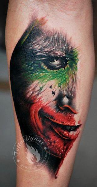 Arm Joker Tattoo von Tattoo Ligans