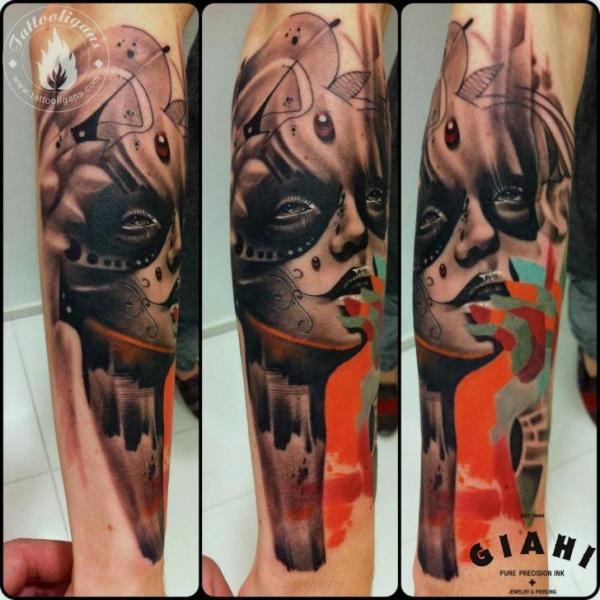 Arm Fantasie Frauen Tattoo von Tattoo Ligans