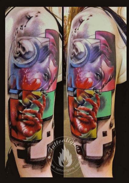 Shoulder Fantasy Tattoo by Tattoo Ligans